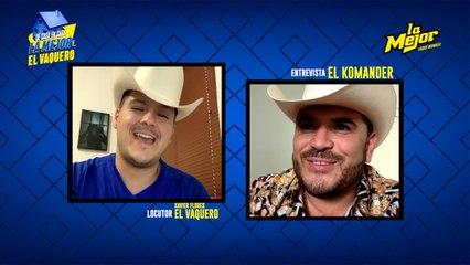 #DeCasaEnCasa La Mejor y El Vaquero con El Komander ¡En Cuarentena y bien guapetón con camisa!