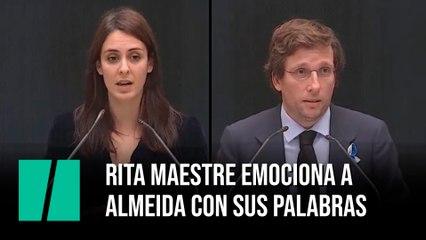 Rita Maestre emociona a Almeida con sus palabras