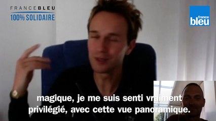 Cyril Féraud, animateur de La carte aux trésors sur France 3, en confinement