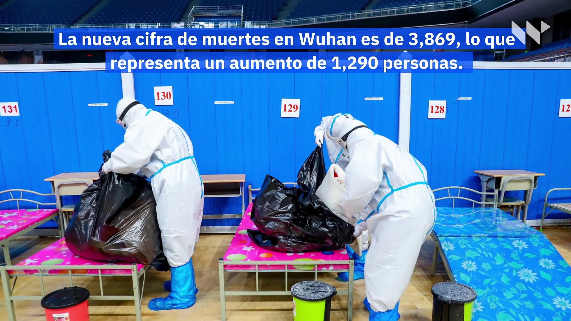 China incrementa un 50% la cifra de muertos en Wuhan por coronavirus