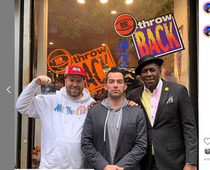 Felipe Lopez  visits Mr. Throwback in NYC
