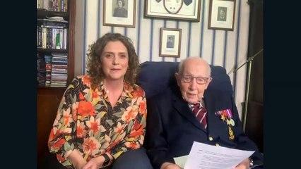 Watch as Captain Tom Moore speaks via video link at the opening of Harrogate's NHS Nightingale hospital