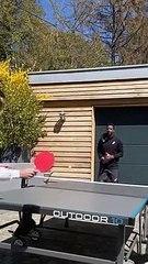 Gaël Monfils et Elina Svitolina se mettent au ping-pong pendant le confinement