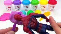 Learn Colors Hello Kitty Dough with Ice Cream Popsicles Molds and Surprise Toys