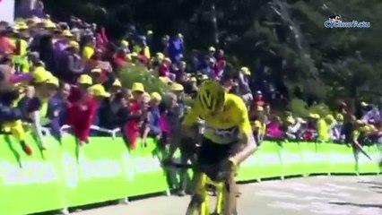 Les souvenirs du Tour de France 2016 de François Belay avec Froome a pied au Ventou