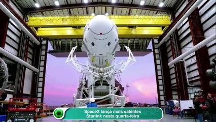 SpaceX lança mais satélites Starlink nesta quarta-feira