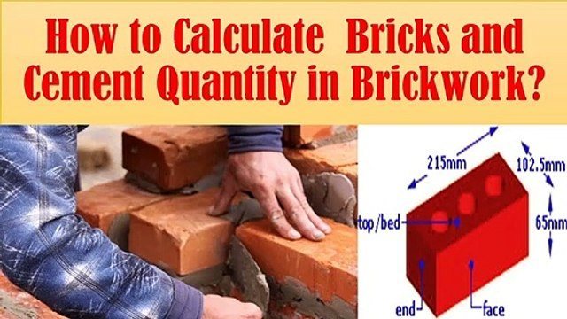 How to calculate bricks and cement quantity for brickwork?   Civil Engg. Q and A