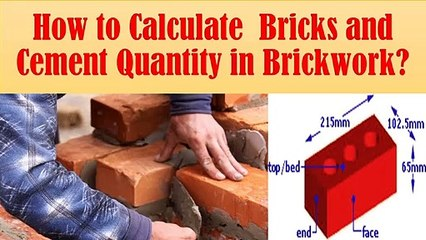 How to calculate bricks and cement quantity for brickwork? | Civil Engg. Q and A