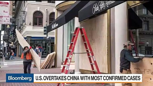 U.S. Coronavirus Cases Surge Past China