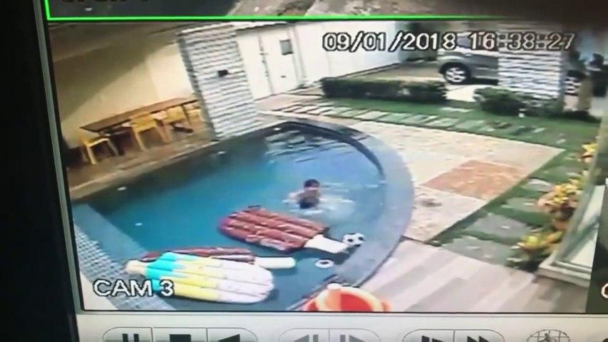 Héros du jour, il sauve son petit frère tombé dans la piscine
