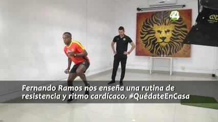 #EjercítateEnCasa - Rutina de resistencia y ritmo cardíaco