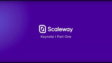 ScaleDay - Keynote | Part One