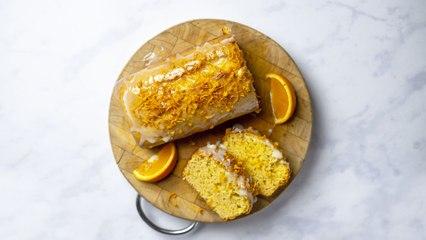 Three-ingredient orange loaf cake