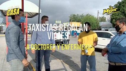 TAXISTAS REGALAN VIAJES A DOCTORES Y ENFERMERAS