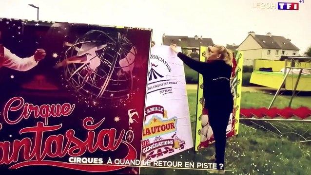 JT TF1 20h 26 avril 2020 Cirques - À quand le retour sur la piste ?