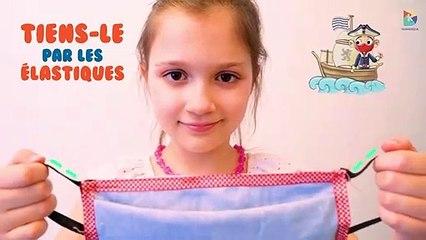Ville de Dunkerque - tutoriel pour les enfants : comment bien mettre un masque en tissu ?