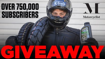 Motorcyclist 750,000-Plus YouTube Subscribers Giveaway