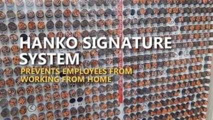 Hanko signature system disrupts telework in Japan