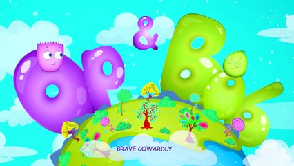 Op and Bob | Brave and Cowardly | Animated Cartoon for Kids