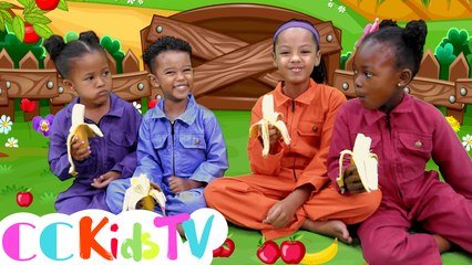Apples & Bananas Song | Apples And Bananas | I Like To Eat Apples And Bananas | CC Kids Tv