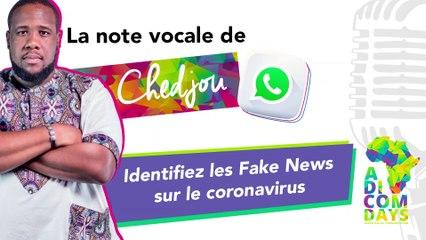La note vocale de Chedjou #1 : Identifiez les Fake News sur le coronavirus