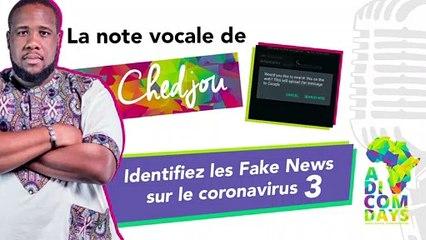 La note vocale de Chedjou #3 : Identifiez les Fake News sur le coronavirus