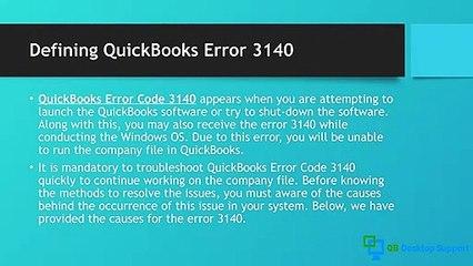 How to Fix QuickBooks Error 3140? || +1-888-412-7852