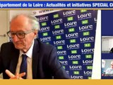 Département de la Loire : actualité et initiatives SPECIAL COVID - Prise de parole - TL7, Télévision loire 7