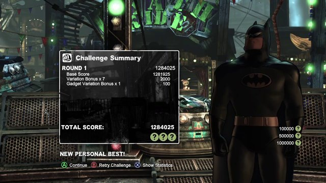 Batman Arkham City (Road to 1 000 000 points without taking a hit)