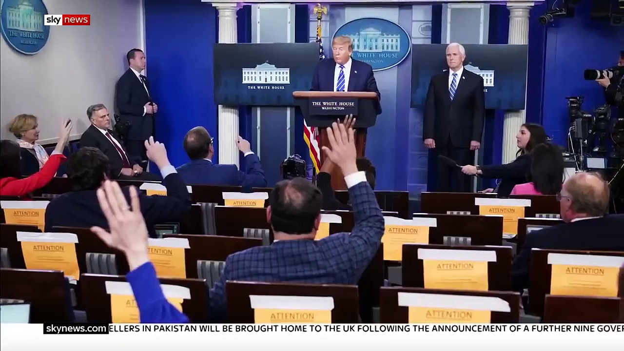 Trump walks out of his coronavirus news conference