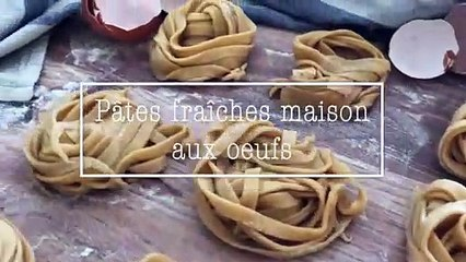Recette pâtes fraiches