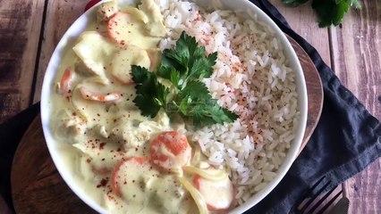 Recette poulet au curry léger