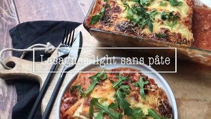 Lasagnes light sans pâte