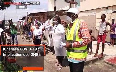 """Depuis l'annonce des cas du COVID-19 en #RDC, les ONGs & mouvements citoyens sensibilisent les communautés au respect des gestes barrières. C'est le cas de Filimbi, Telema Muana Mampinga et l'ONG """"Posons des actes"""" qui conscientisent les populations de Ki"""