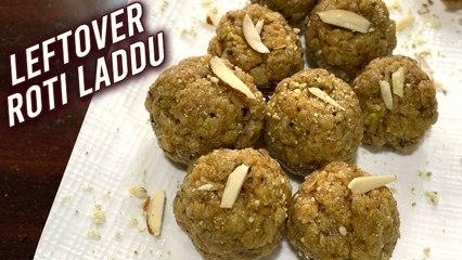 Leftover Roti Laddu _ How To Make Roti Churma Ladoo _ Quick Sweet Recipe _ Chapati Ladoo By Ruchi