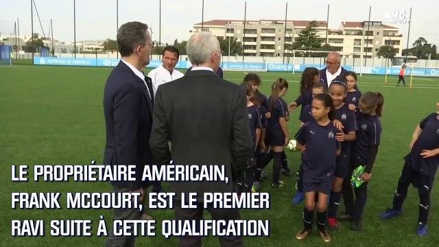 """""""L'OM est sur la bonne voie"""" les mots forts de McCourt et Eyraud après la qualification en C1"""