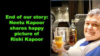 End of our story: Neetu Kapoor shares happy picture of Rishi Kapoor
