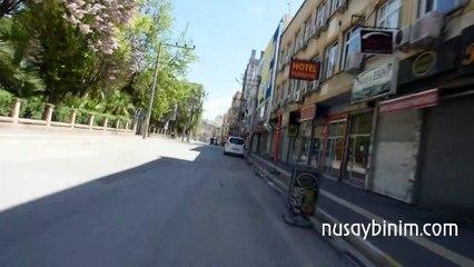 Nusaybin ilçe merkezi şehir görüntüsü (Sokağa çıkma kısıtlaması)