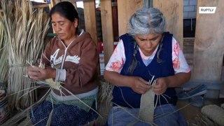 المكسيك: كمامات من مصنوعة من ورق النخيل !!!
