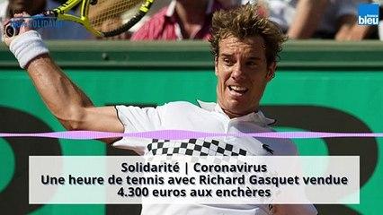 Les enchères s'envolent pour une heure de tennis avec Richard Gasquet