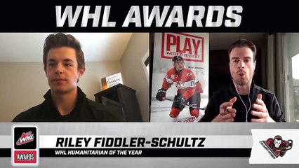 WHL Awards Interview: Riley Fiddler-Schultz, WHL Humanitarian of the Year