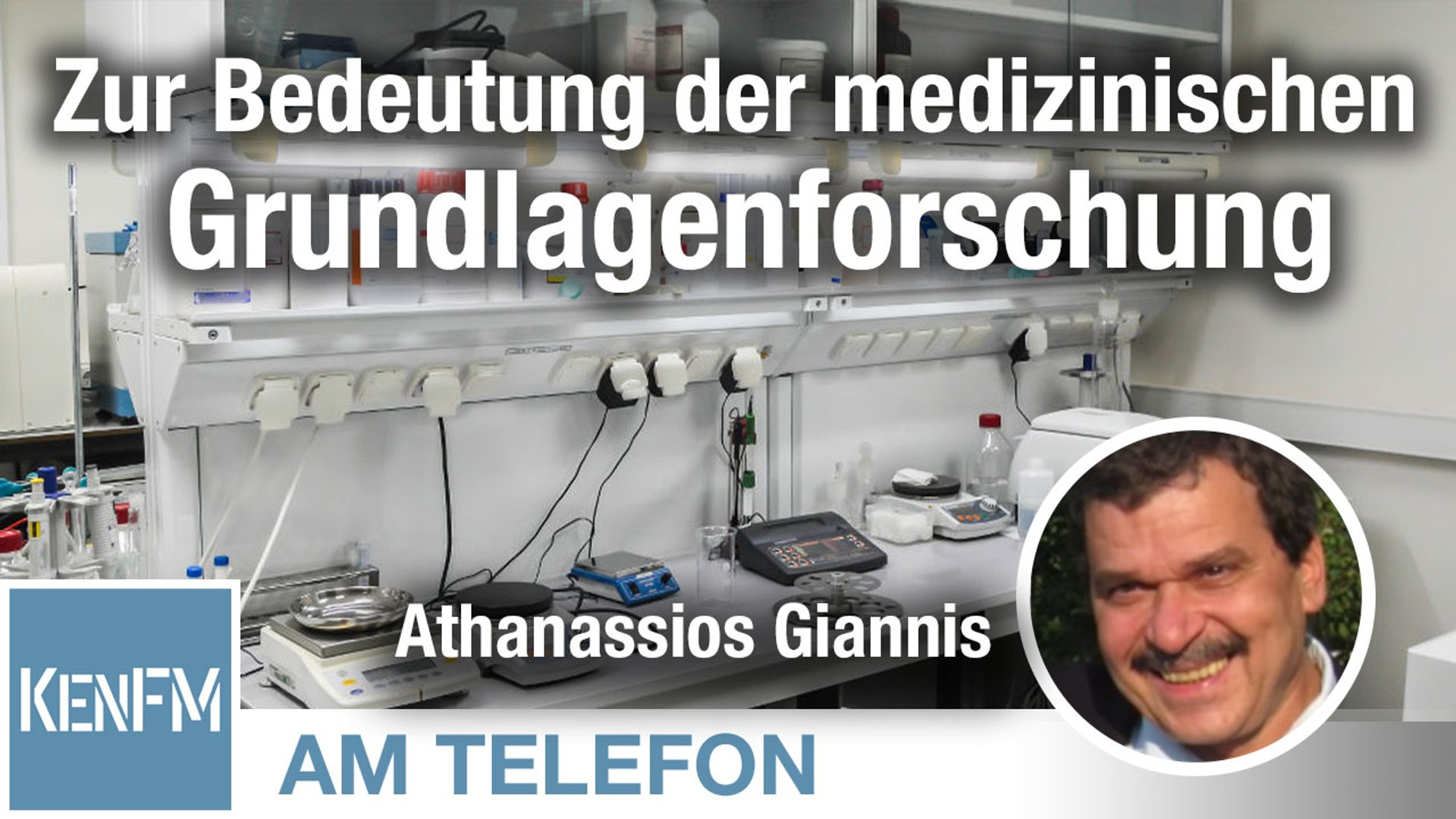 Am Telefon zur Bedeutung der medizinischen Grundlagenforschung: Athanassios Giannis