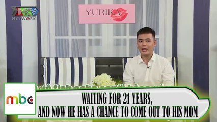 WAITING FOR 21 YEARS, AND NOW HE HAS A CHANCE TO COME OUT TO HIS MOM