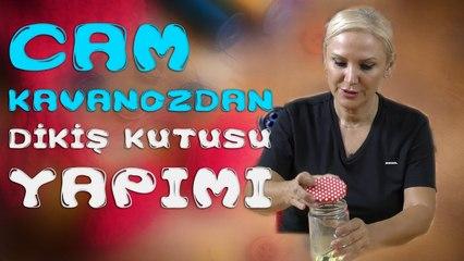 HandCraft TV Bulaşık Süngeri ve Cam Kavanozdan Dikiş Kutusu Yapımı