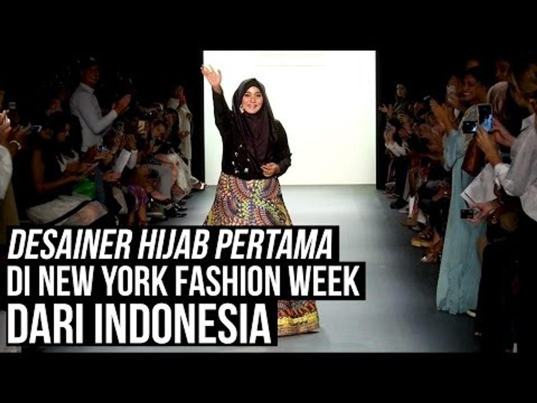 Desainer Hijab Pertama di New York Fashion Week dari Indonesia