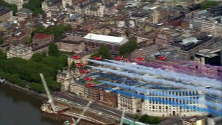 VE Day anniversay marked with Red Arrow flypasts