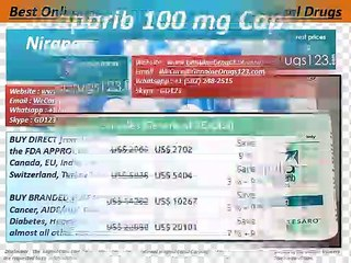 Buy Zejula (Niraparib) Capsules Online