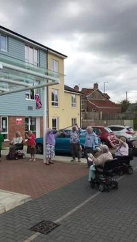 Care home VE Day