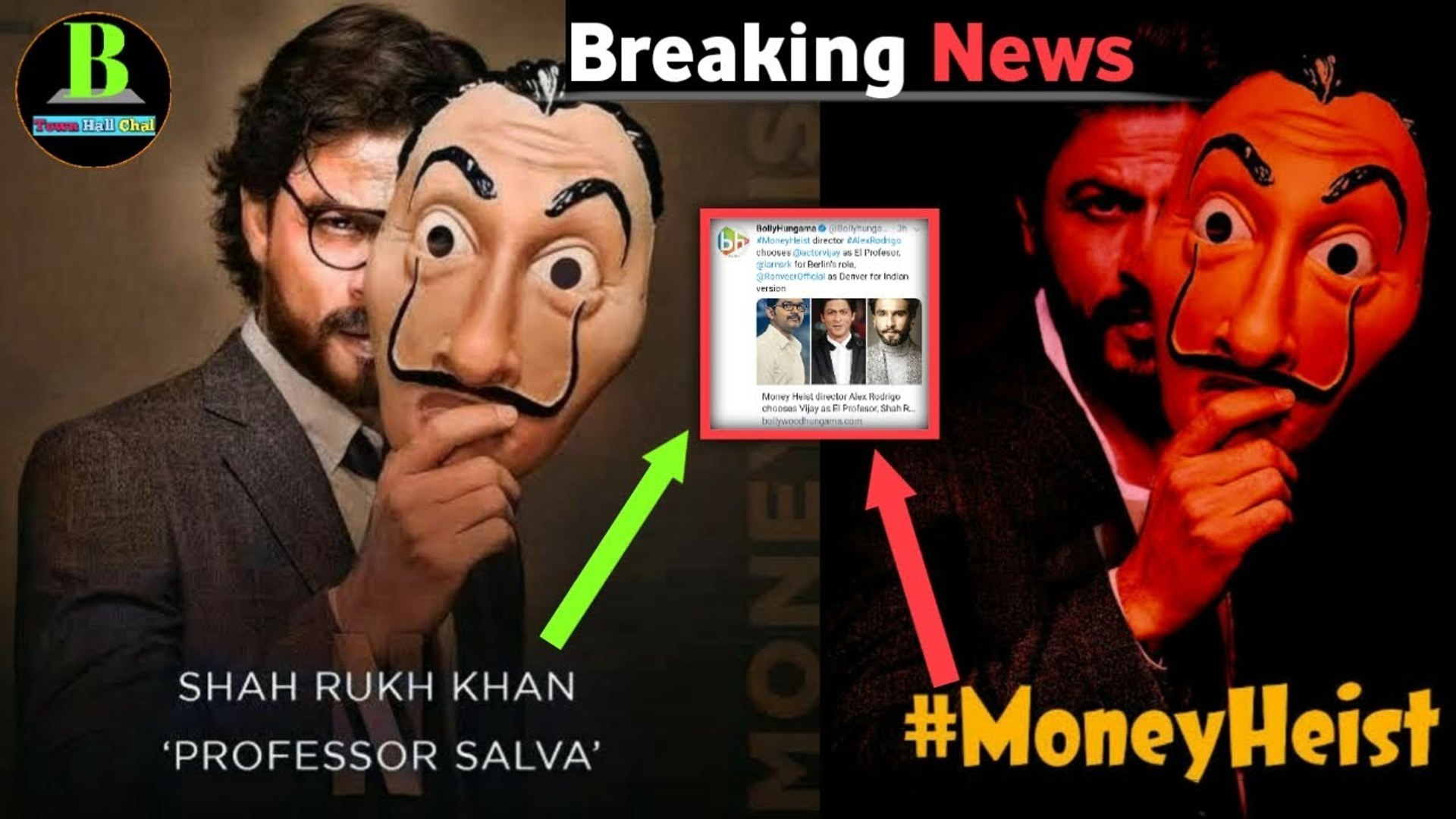 Breaking News - Shahrukh Khan in Money Heist as Profesor Role