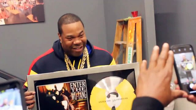 Busta Rhymes receives Wu Tang Plaque from RZA and the whole entire WU TANG